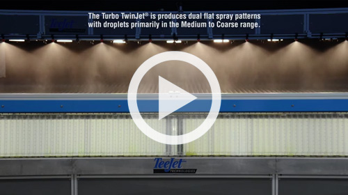 Watch our Turbo TeeJet Spray Distribution Quality video.