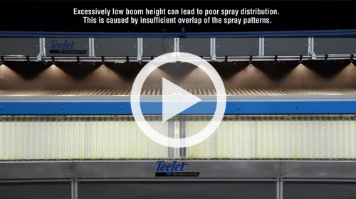 Watch our video on the Negative Impacts of Low Spray Boom Height.