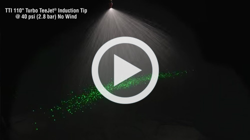 Watch our TeeJet TTI Turbo TeeJet Induction Spray Tip Drift Demo video.
