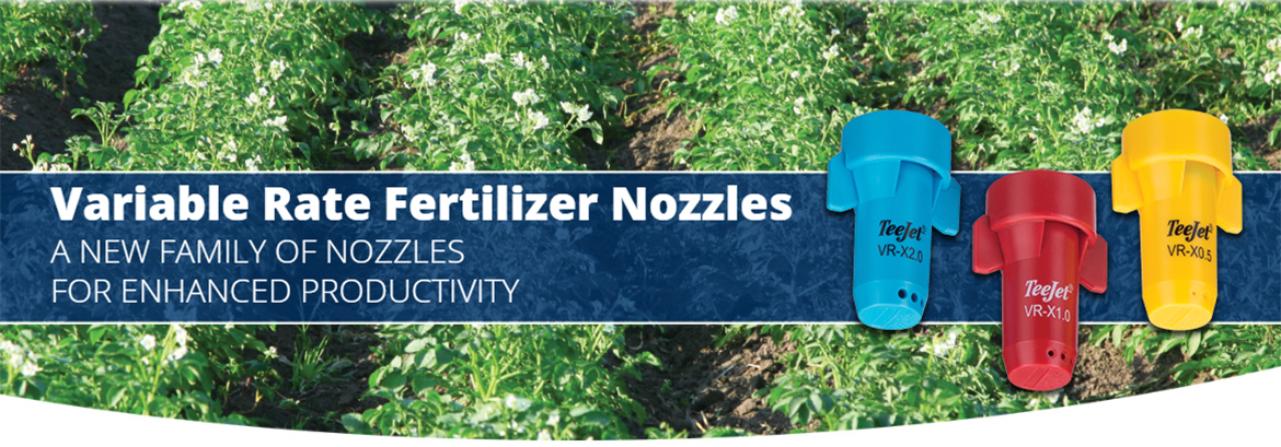Variable Rate SJ-VR StreamJet Fertilizer Nozzles