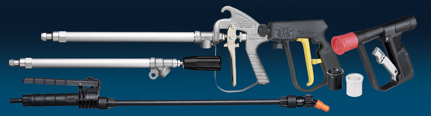 TeeJet has the right spray gun and tip/accessory combination for the job.