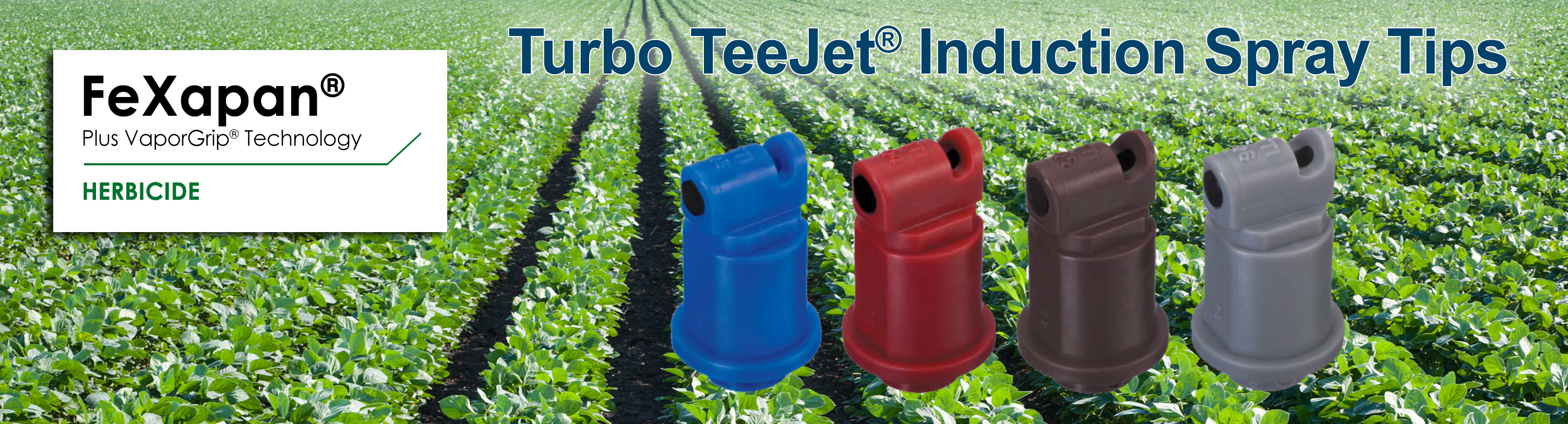 Turbo TeeJet® Induction (TTI™) Spray Tips for FeXapan